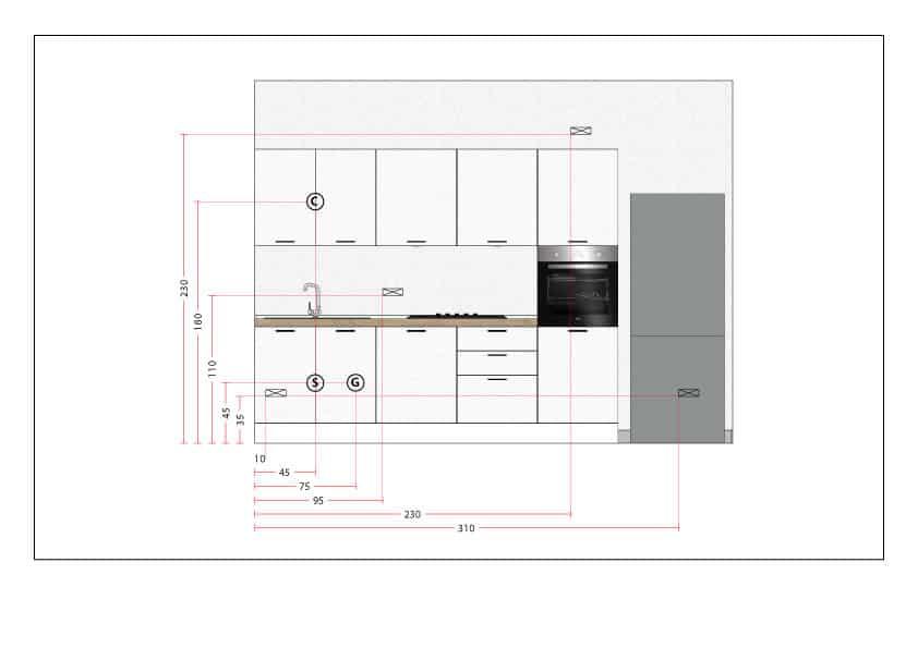 Altezza Mobili Cucina.Guida Impianto Elettrico In Cucina Luigi Montella I Mobili