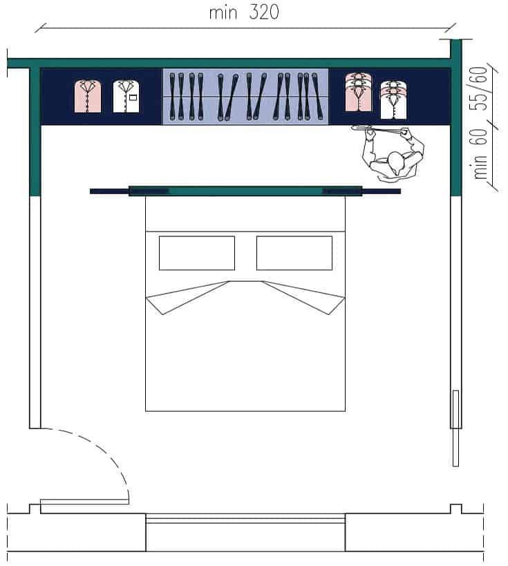 Dimensioni della cabina armadio - Luigi Montella i mobili ...